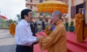 Nguyên Chủ tịch nước Trương Tấn Sang thăm Học viện Phật giáo tại TP HCM