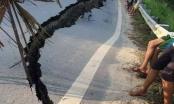 Yên Bái: Vết nứt khổng lồ trên quốc lộ 32C
