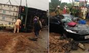 Phú Thọ: Va chạm với container, tài xế ô tô tử vong tại chỗ
