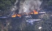 Hiện trường vụ rơi máy bay vận tải KC-130 tại Mỹ, nhiều người thiệt mạng