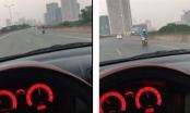 Hoảng hồn với người phụ nữ điều khiển xe máy lao như gió trên đường vành đai 3