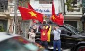 Cờ hoa ngập trời sẵn sàng cổ vũ đội tuyển Việt Nam trước trận chung kết