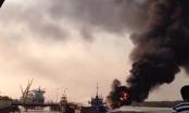 Hải Phòng: Cháy tàu chở 900m3 dầu ở cảng Đình Vũ