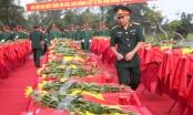 An táng, truy điệu 98 hài cốt liệt sĩ hi sinh tại nước bạn Lào