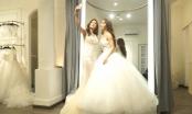 Cá sấu Quỳnh Nga cùng đọ váy cưới với Mlee