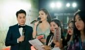 Dương Cẩm Lynh  diện váy dạ hội xuyên thấu trong vai trò MC