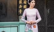 Ngọc Hân thoả lòng khi diễn áo dài trong 'Duyên dáng Việt Nam'