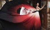 Hoa hậu Huỳnh Vy mang váy Á đông đón Tết rực rỡ