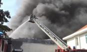 Cháy lớn tại xưởng sản xuất đế giày giáp Tết