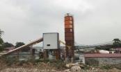 Thị xã Sơn Tây: Trạm trộn bê tông Sơn Tây không phép ung dung hoạt động