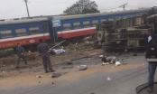 Hưng Yên: Xe tải đâm trực diện vào tàu hỏa, tài xế tử vong tại chỗ