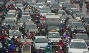 Hà Nội: Nhiều tuyến đường nghẹt thở trong mưa phùn