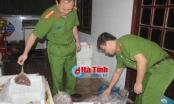 Hà Tĩnh: Phát hiện cơ sở kinh doanh trữ hơn 2 tạ thịt chim bốc mùi