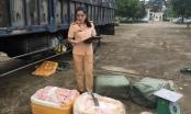 Bắt xe tải chở 2,5 tấn thịt lợn đang trong quá trình phân hủy