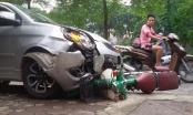 Tai nạn giao thông Plus: Xe container lật nhào đè ô tô 4 chỗ, 3 người thương vong