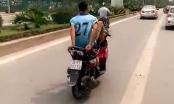 Công an vào cuộc truy tìm thanh niên cứng lái xe bằng chân trong làn BRT