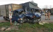 3 xe tải tông liên hoàn, 4 người nhập viện
