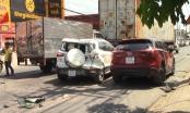 Bình Dương: Ô tô điên tông hàng loạt phương tiện, 2 vợ chồng bị thương