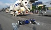 Tai nạn giao thông ở ngã tư Bình Thái, xe bồn kéo lê xe máy gần 100m