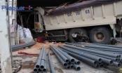 Bình Dương: Xe ben mất thắng lao vào cửa hàng vật liệu xây dựng, nhiều người tháo chạy