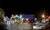 Clip: Ngã sấp mặt xuống đường vì mãi dằn mặt tài xế ô tô
