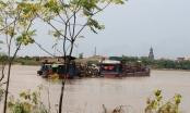 Cát tặc lộng hành, tỉnh Hưng Yên xử phạt và bắt giữ tàu chở gần 500m3 cát