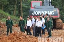 Núi Y Sơn sạt lở, PCT tỉnh Bắc Giang yêu cầu xử lý gấp