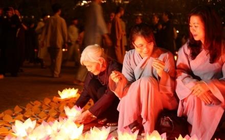 Ninh Bình: Đêm hội hoa đăng cầu Quốc thái Dân an tại chùa Bái Đính