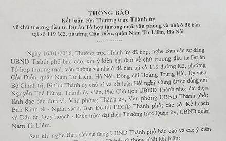 Dự án tại phường Cầu Diễn của Xuân Hòa đủ giấy phép để triển khai theo quy định