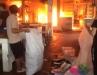 Clip lửa cháy cuồn cuộn tại chợ huyện Sóc Sơn, Hà Nội