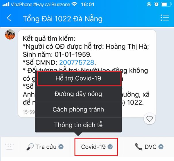 Cách tra cứu thông tin hỗ trợ người dân Đà Nẵng gặp khó khăn do dịch Covid-19