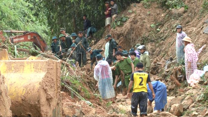 Quảng Nam: Tìm thấy nạn nhân bị mất tích trong vụ sạt lở đất tại huyện Bắc Trà My
