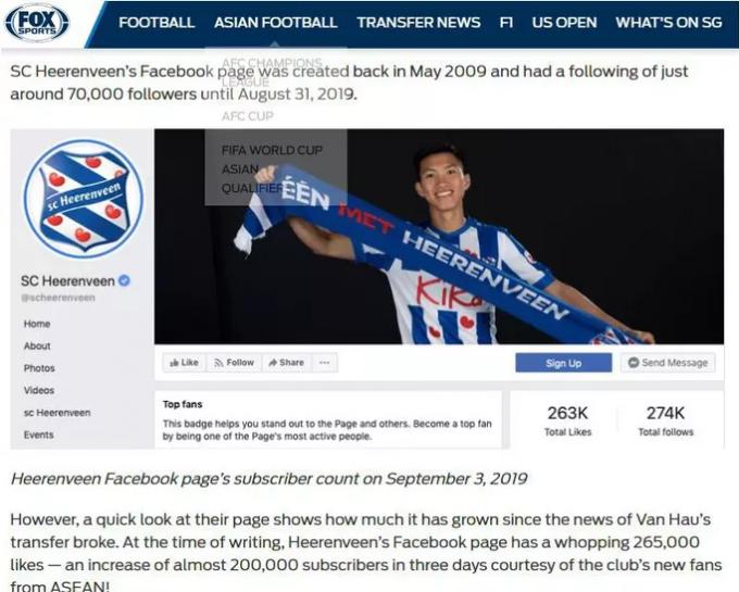 Báo châu Á nói gì về sự kiện Đoàn Văn Hậu ra nhập CLB SC Heerenveen