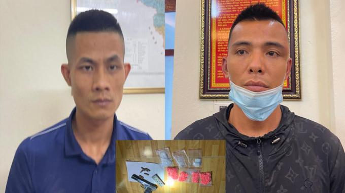 Thanh Hoá: Bắt hai đối tượng buôn bán ma tuý, tàng trữ súng đạn tại nơi ở