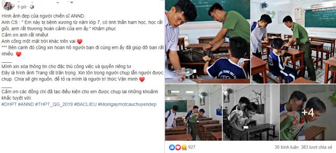 Bức ảnh đốn tim cộng đồng mạng giữa mùa thi THPT QG năm 2019