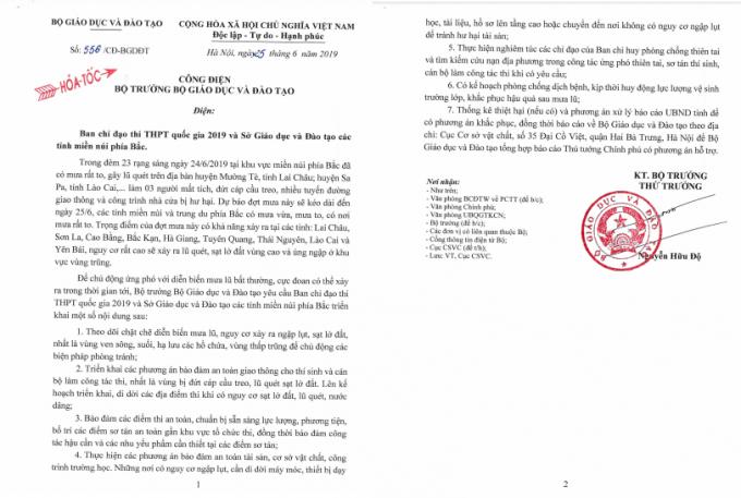 Bộ GD&ĐT ban hành Công điện khẩn chỉ đạo kỳ thi THPT Quốc gia 2019