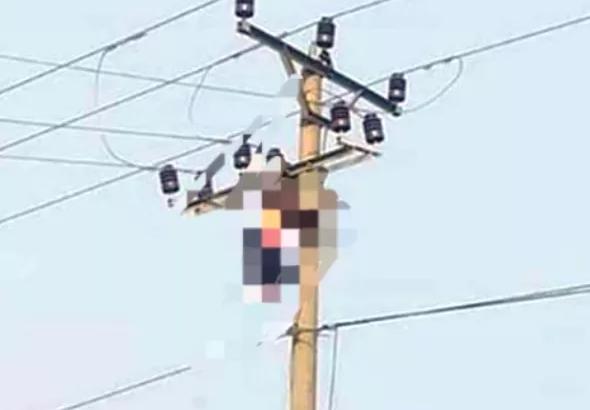 Hòa Bình: Bàng hoàng phát hiện người đàn ông tử vong trên cây cột điện