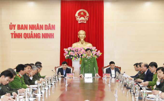 Bộ Công an làm việc với Quảng Ninh triển khai xây dựng Trung tâm huấn luyện Quốc gia phòng, chống khủng bố