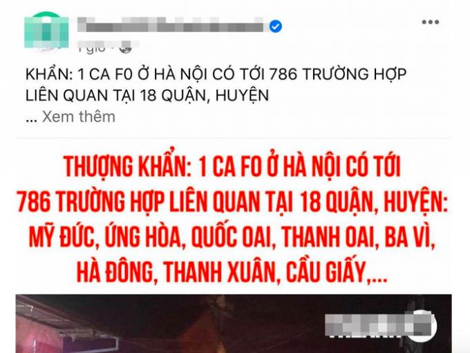 Hà Nội: Huyện Chương Mỹ bác bỏ thông tin hàng trăm người liên quan đến ca F0
