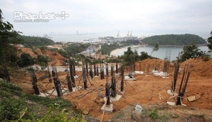 Khu vực thi công 40 móng biệt thự không phép trên bán đảo Sơn Trà.