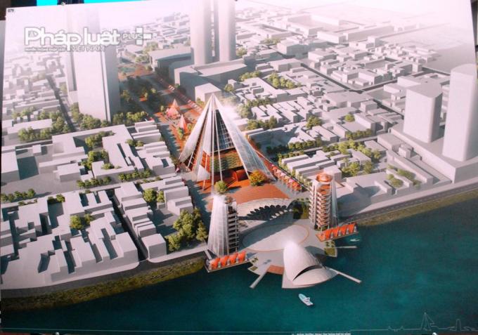 Một ý tưởng thiết kế khu đại sảnh lớn thay cho chợ Hàn được đơn vị dự thi đưa ra.
