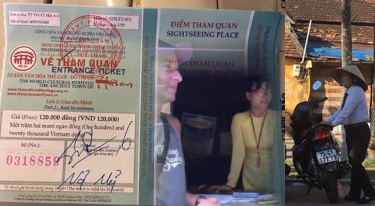 Nữ chủ cửa hàng kể lại sự việc kèm clip về việc hai khách nước ngoài bị ép mua vé tham quan phố cổ.