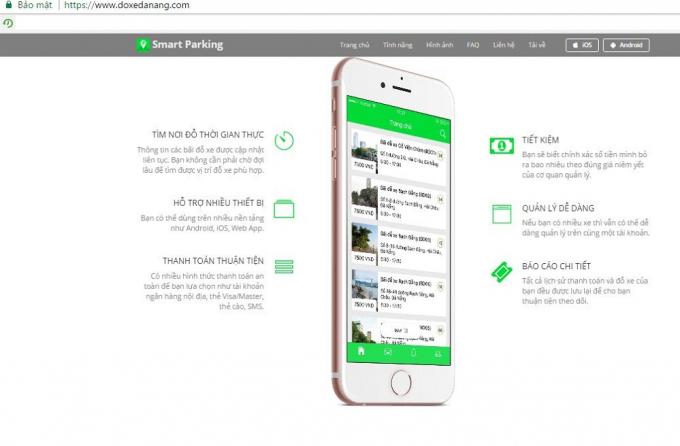 Phần mềm thu phí đỗ xe qua di động SmartParking được áp dụng tại quận Hải Châu.