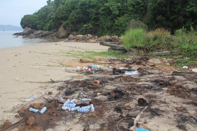 Hiện tượng ô nhiễm xuất hiện sau khi bùn đất tràn xuống bãi biển dọc bán đảo Sơn Trà.