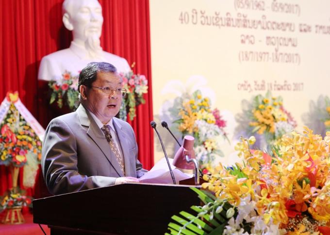 Ông Khamsene Phommaseng -Tổng Lãnh sự Lào tại Đà Nẵng.