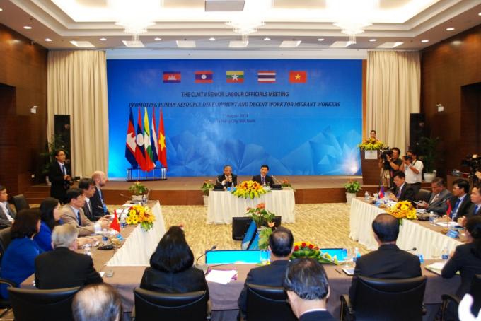Quan chức cao cấp 5 nước Campuchia, Lào, Myanmar, Thái Lan và Việt Nam có mặt tại hội nghị.