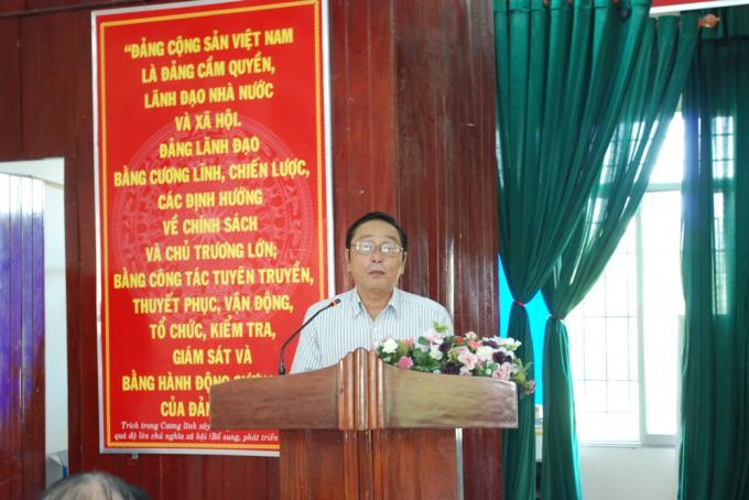 Đại diện Sở NN&PTNT TP Đà Nẵng Nguyễn Đỗ Tám chia sẻ ý kiến về các kiến nghị của ngư dân.