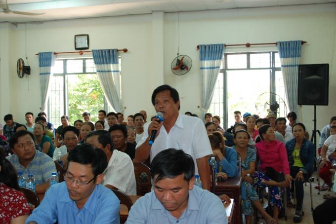 Đại diện Nghiệp đoàn Nghề cá Nại Hiên Đông phát biểu ý kiến.