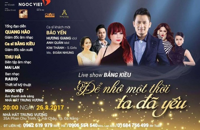 Ca sĩ Bằng Kiều cùng nghệ sĩ Quang Hào phối hợp trong vai trò giám đốc âm nhạc và chỉđạo nghệ thuật cho chương trình.