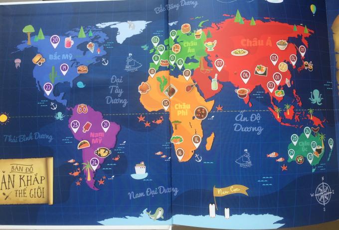 Bản đồ 80 ngày phiêu lưu qua 5 châu, 4 biển của tác giả - đưa ngườiđọc vào thế giới đầy mới mẻ, hấp dẫn.